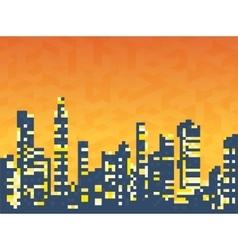 Cityscape skyscrapers vector image