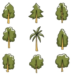 Collection of tree set art vector