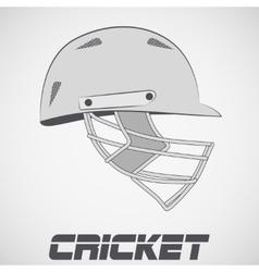 Cricket Helmet sketch vector image