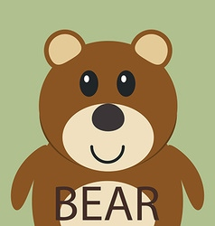 Cute brown bear cartoon flat icon avatar vector image vector image