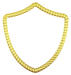 gold frame in the form of a rope vector image vector image