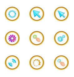 hand pointer icons set cartoon style vector image