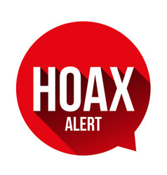 hoax alert speech bubble vector image