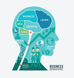 infographics brain design business diagram templat vector image vector image