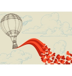 Love balloon vector