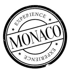 Monaco stamp rubber grunge vector