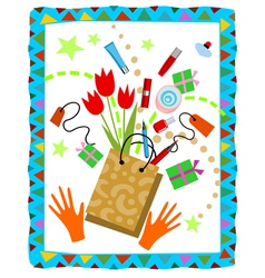 Nice shopping vector image vector image