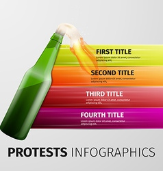 protests infographics vector image