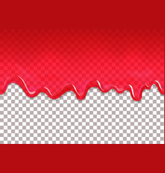 red jam drips seamless border strawberry syrup vector image vector image