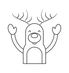 Reindeer winter clothes icon vector