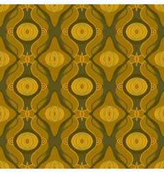 Seamless arabic pattern in shades of old gold vector