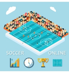 Soccer online vector image vector image