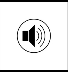 Sound mode solid icon mobile sign and loud vector