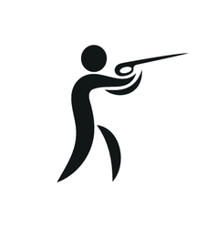 Summer sport shooting icon monochrome vector image
