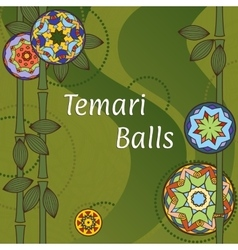 Temari balls background vector