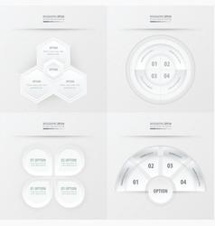 Template design 4 item white color vector