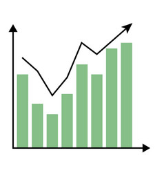 Template growth chart vector