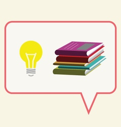 Think Bright Read Books vector image