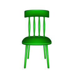 Wooden chair in green design vector