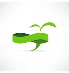 Green eco banner bubble for speech vector