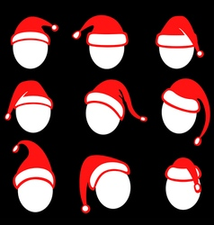 christmas cap red vector image