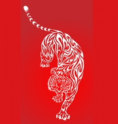 tiger tattoo 2 red vector image