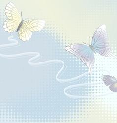 wallpaper with butterflies vector image