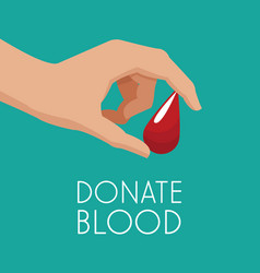 Hand drop donate blood vector