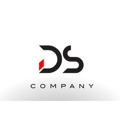 ds logo letter design vector image