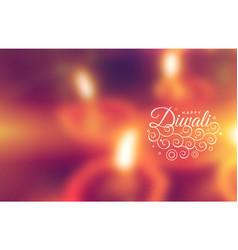 beautiful happy diwali greeting wallpaper vector image