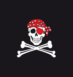 Jolly roger flag vector