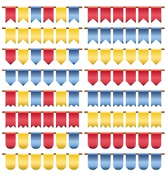 red yellow blue bunting vector image