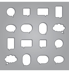 Set of colorful speech bubbles vector