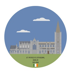 Church of saint patrick dublin vector