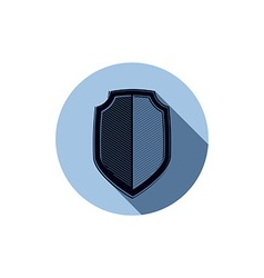 Stylish defense shield protection idea graphic vector