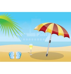 Summer and sea background vector
