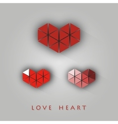 Heart shape from triangles vector