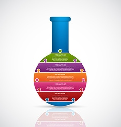 Chemical and science infographic design concept vector