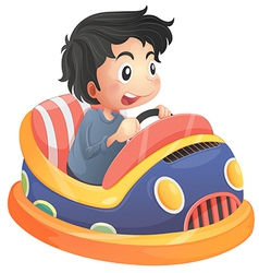 A child riding in a bumpcar vector image vector image