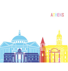 Athens ga skyline pop vector