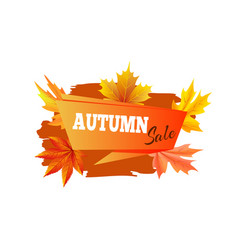 Autumn sale promo poster on vector