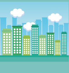 beautiful city design vector image vector image