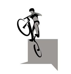 Bicycle extreme sport vector