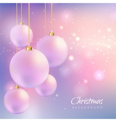 Christmas background with sparkles and balls vector