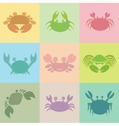 Crab groups vector