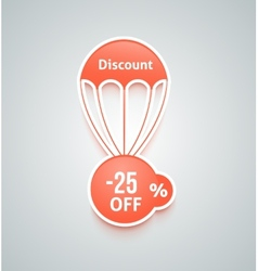 Discount parachute set vector