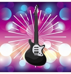 Electric guitar icon Music and Sound design vector image