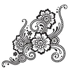 Flower ornament vector
