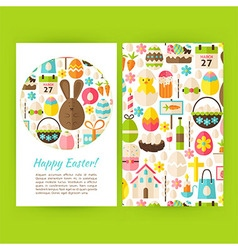 Happy Easter Vertical Flyers Set Template vector image vector image