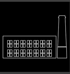 Industrial building factory the white path icon vector